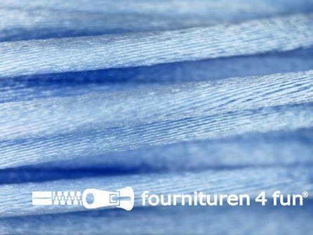 COUPON Glans koord 3mm licht blauw  - 18 meter