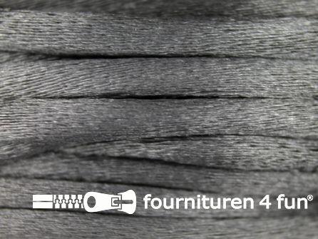Glans koord 3mm midden grijs 25 meter