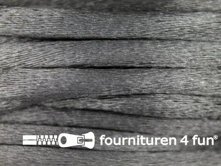 COUPON Glans koord 3mm midden grijs - 2 stukken, totaal 28,7 meter (25+3,7 meter)