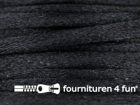 Glans koord 3mm zwart 25 meter