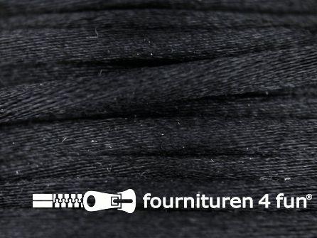 COUPON Glans koord 3mm zwart - 15 meter