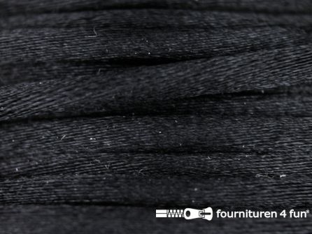 COUPON Glans koord 3mm zwart - 11,5 meter