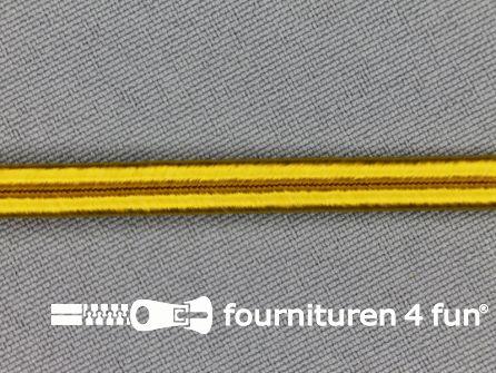 Soutache koord 6mm goud geel
