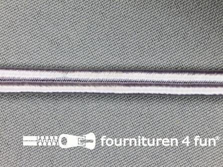 Soutache koord 6mm zilver grijs