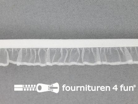 Elastisch ruche band 14mm off white