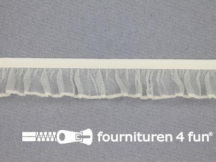 Elastisch ruche band 18mm ecru - beige
