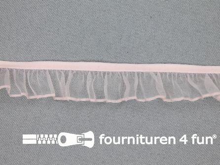 Elastisch ruche band 18mm zacht roze