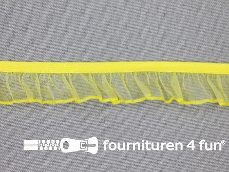 Elastisch ruche band 18mm geel
