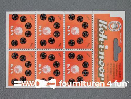 Mantel drukkers 8mm zwart 36 stuks