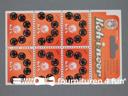 Mantel drukkers 9mm zwart 36 stuks