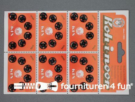 Mantel drukkers 10mm zwart 36 stuks