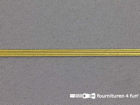 5 Meter gekleurd elastiek 3,5mm goud
