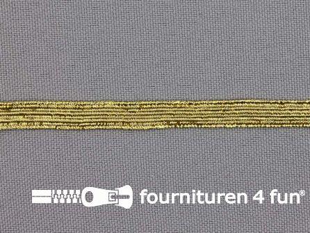 5 Meter gekleurd elastiek 6,5mm goud