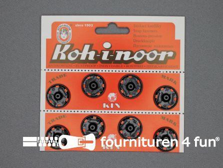 Mantel drukkers 21mm zwart 8 stuks