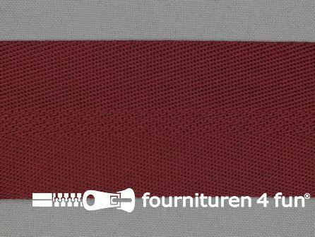 Soepel tassenband 50mm bordeaux rood