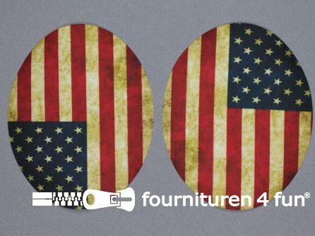 Kniestukken vlag Amerika