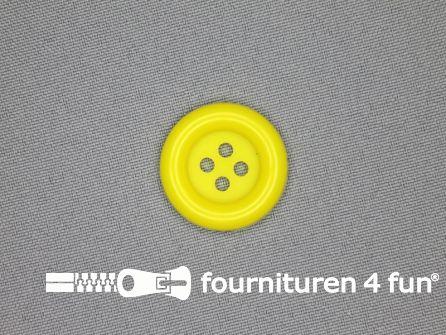 Clown knoop 25mm fel geel