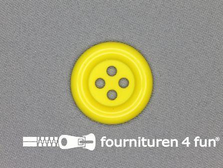 Clown knoop 30mm fel geel