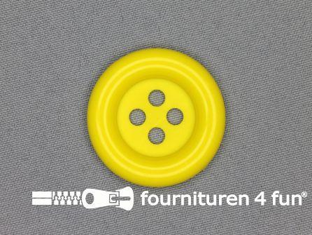 Clown knoop 38mm fel geel