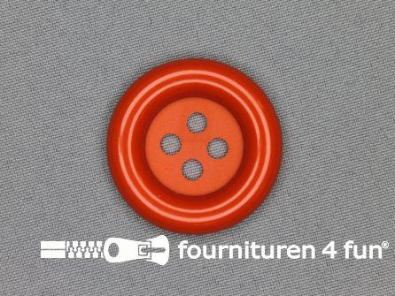 Clown knoop 38mm oranje