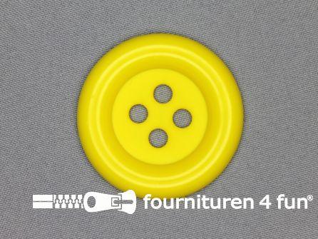 Clown knoop 50mm fel geel