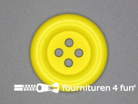 Clown knoop 67mm fel geel