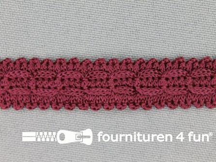 Rol 25 meter nylon galon 14mm bordeaux rood