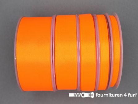 3 Meter satijn lint 38mm neon oranje