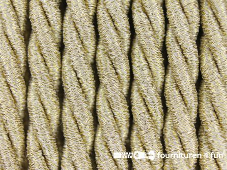 Metallic koord 5mm mat goud