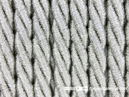 Metallic koord 5mm mat zilver
