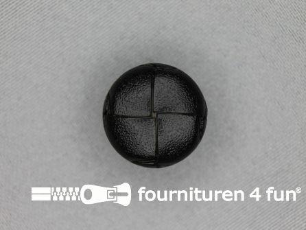 Voetbal knoop 20mm zwart