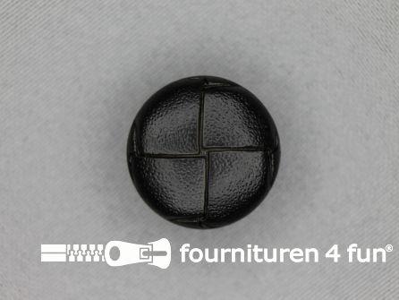 Voetbal knoop 23mm zwart