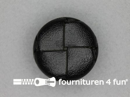 Voetbal knoop 30mm zwart