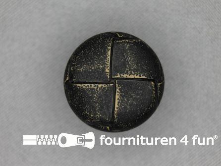 Voetbal knoop 23mm vintage antraciet