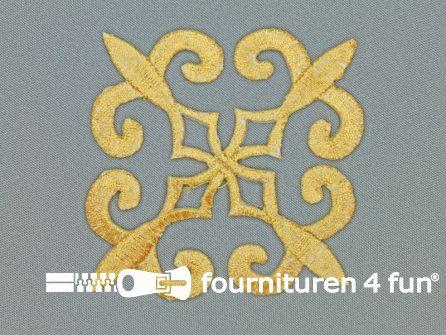 Barok applicatie 85x85mm goud