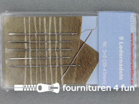 Leer naalden 39-43mm 5 stuks