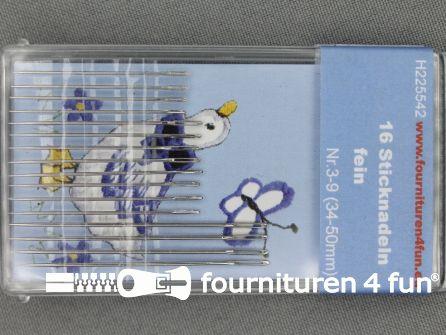 Borduur naalden 34-50mm fijn 16 stuks