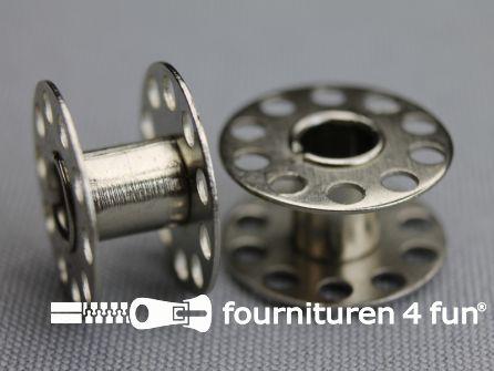 Naaimachine spoeltjes 20,5mm metaal 10 stuks