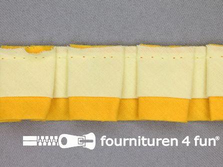 Plissé band 30mm zacht - fel geel