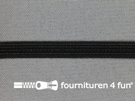 Baleinenband 6mm rigi zwart