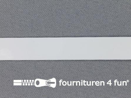 Baleinenband 11mm metaal wit