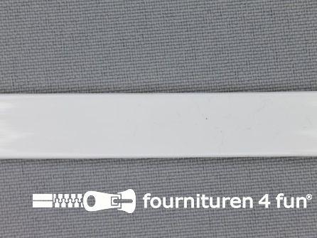 Rol 25 meter baleinenband 12mm kunststof wit