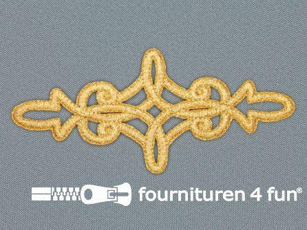 Barok applicatie 50x110mm goud