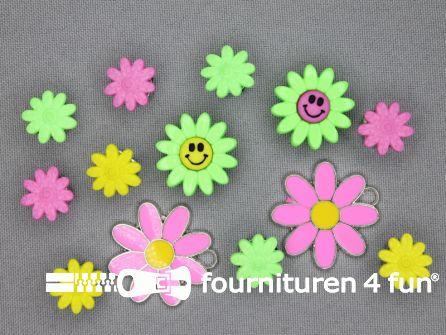 Fun knopen set bloemetjes