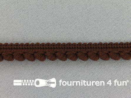 Bolletjesband 10mm donker bruin