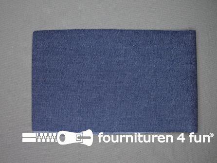 Reparatiedoek 12x40cm midden jeans blauw