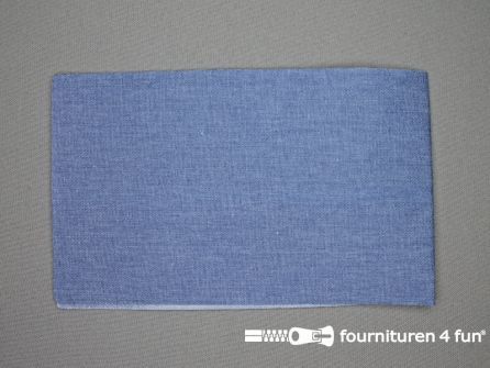 Reparatiedoek 12x40cm licht jeans blauw