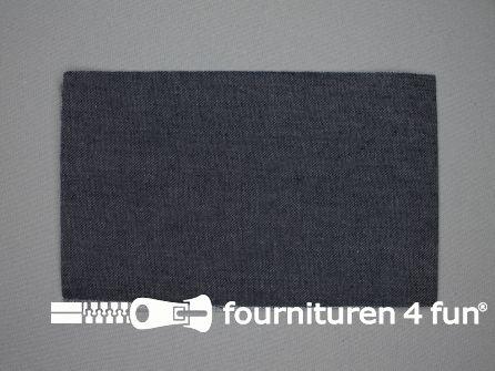 Reparatiedoek 12x40cm donker jeans blauw