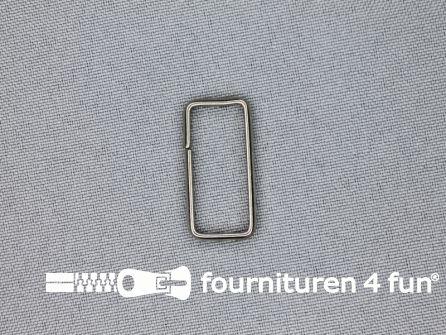 Schuifpassant 25mm zilver 9 stuks