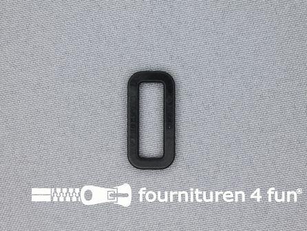Schuifpassant 20mm zwart kunststof